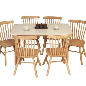 DIXIE DINING TABLE WITH 6 SEATER